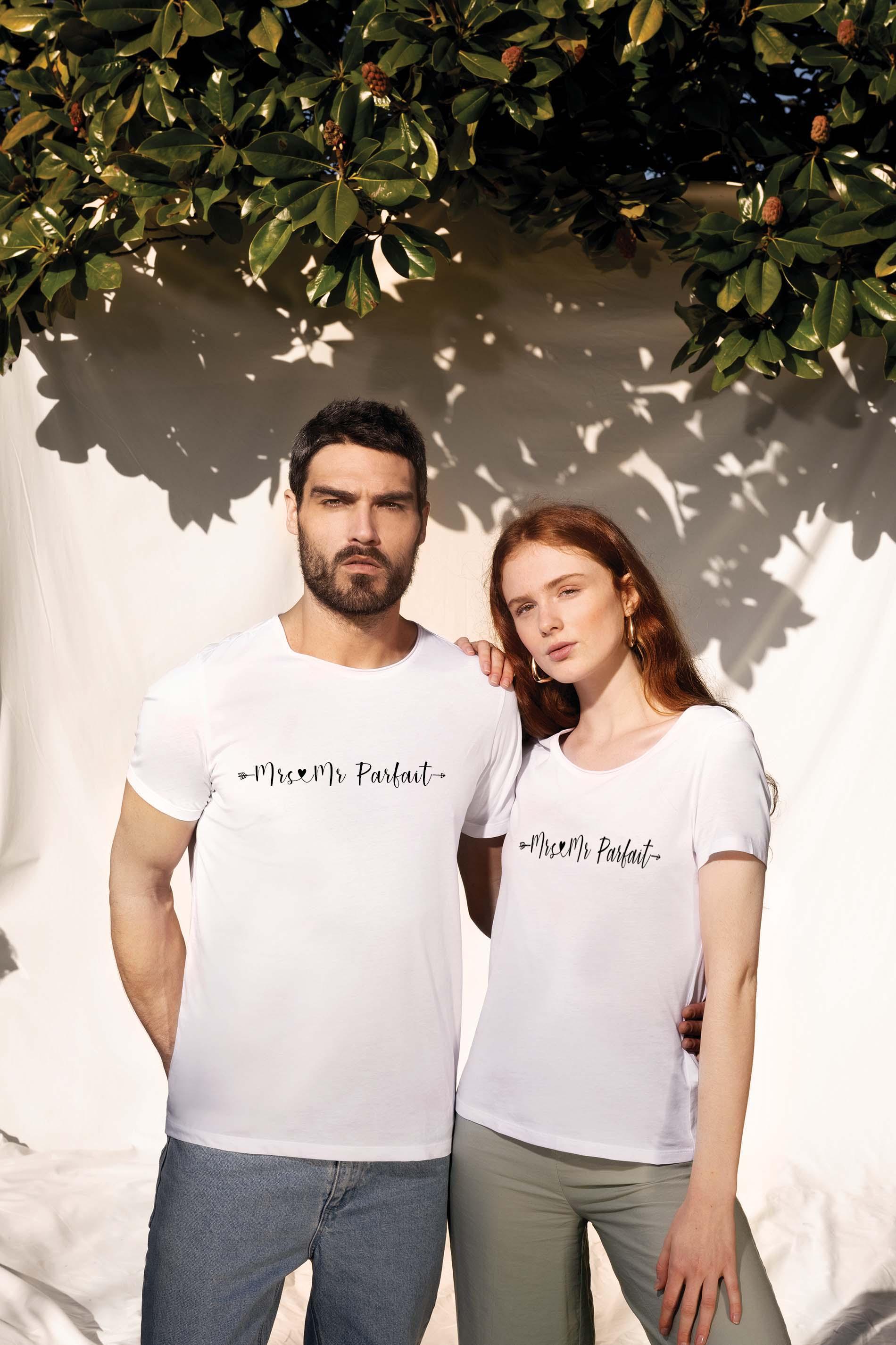 T shirt mrs & Mr